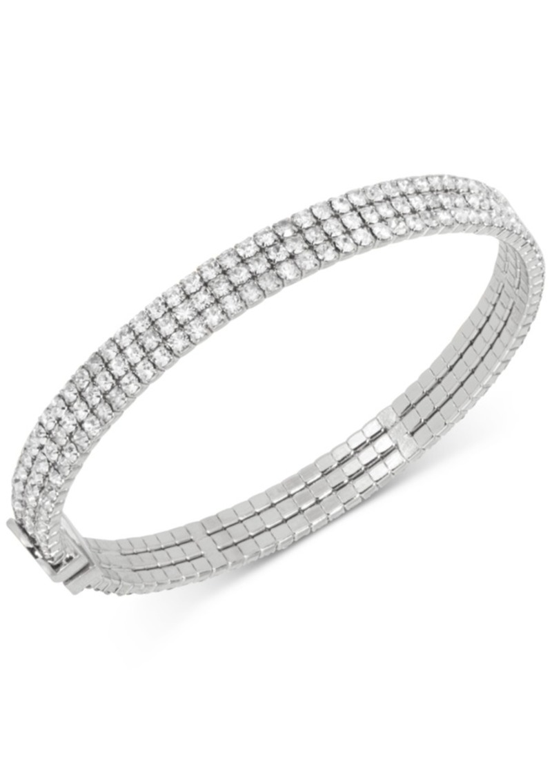Kate Spade New York Silver-Tone Crystal Thin Bangle Bracelet