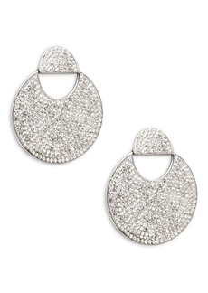 Kate Spade New York Silvertone & Clear Crystal Drop Earrings