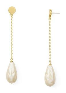 kate spade new york Simulated Pearl Linear Drop Earrings