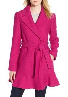 kate spade new york skirted wrap coat