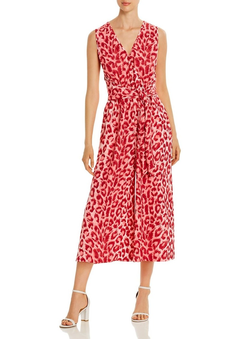 kate spade new york Sleeveless Cropped Leopard-Print Jumpsuit