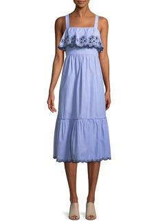 Kate Spade sleeveless daisy embroidered patio dress