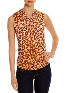 kate spade new york Sleeveless Leopard-Print Top