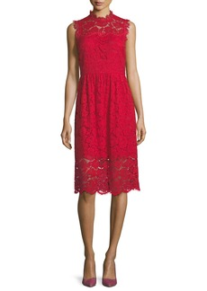 kate spade new york sleeveless poppy lace midi dress