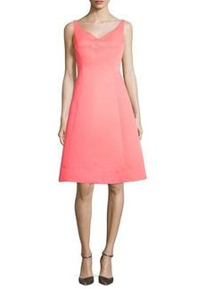 kate spade new york sleeveless structured fit-and-flare dress