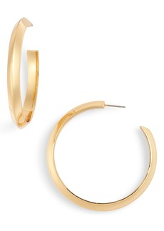 kate spade new york sliced scallops hoop earrings
