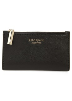 kate spade new york spencer small slim saffiano leather bifold wallet