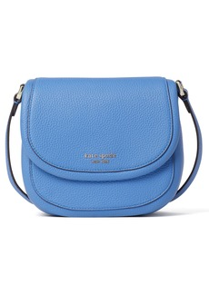 kate spade new york small roulette leather crossbody bag