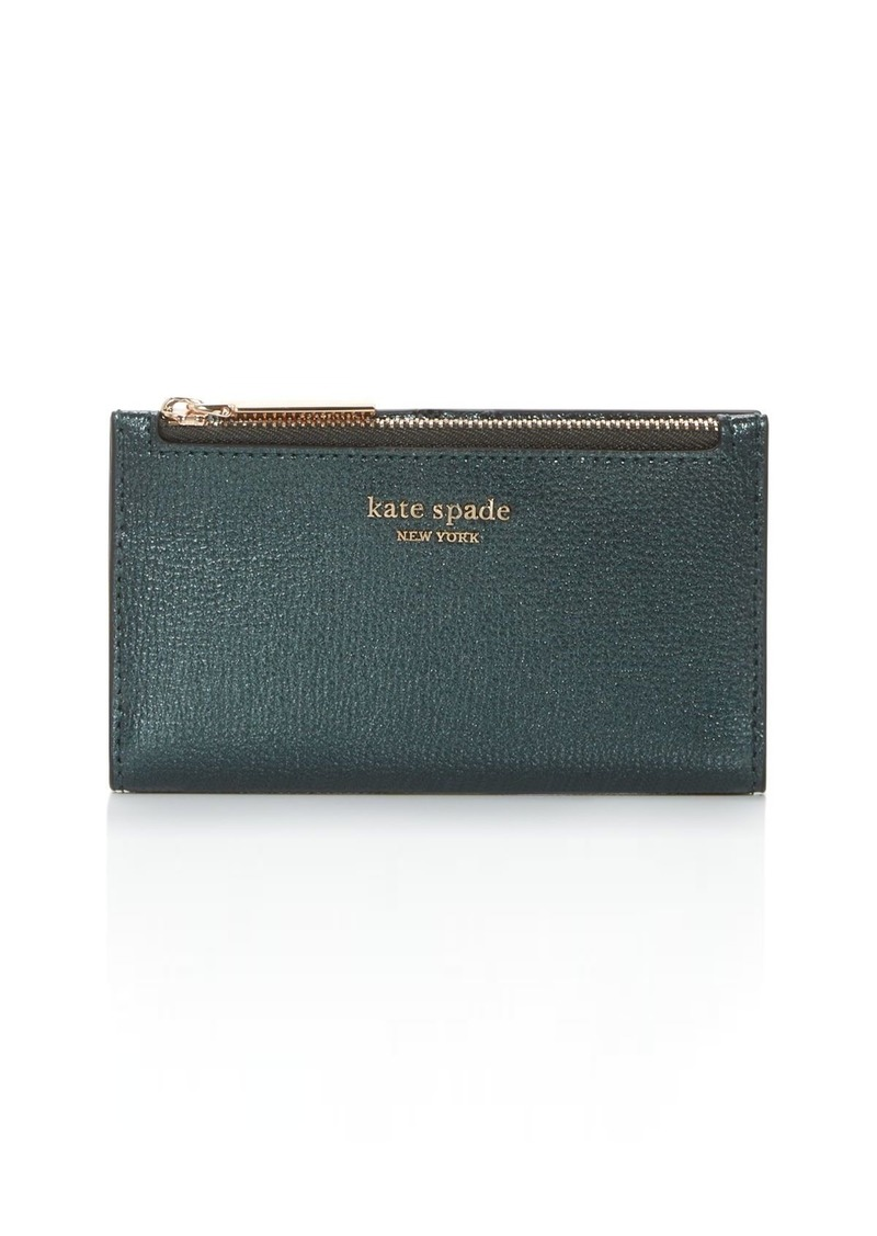 kate spade new york Small Slim Leather Bi-Fold Wallet