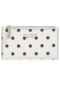 kate spade new york small spencer cabana dot leather wallet