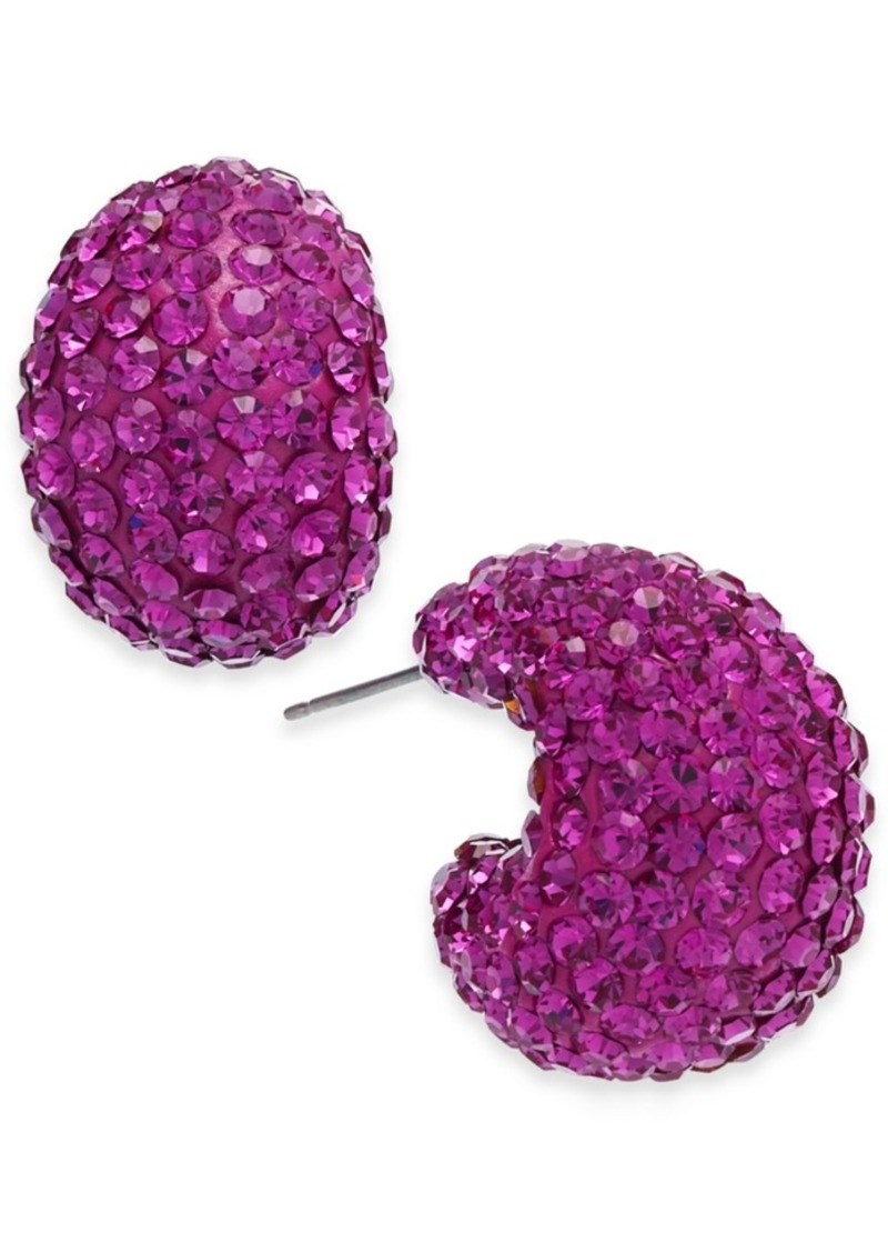 Kate Spade New York Small Stone & Resin Pave Hoop Earrings 1""