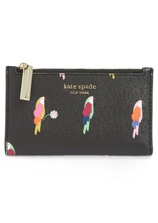 kate spade new york small sylvia flock party leather bifold wallet