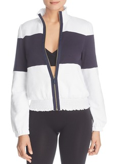 kate spade new york Smocked Color Block Jacket