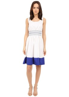 Kate Spade New York Smocked Poplin Dress