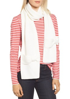 kate spade new york solid bow muffler