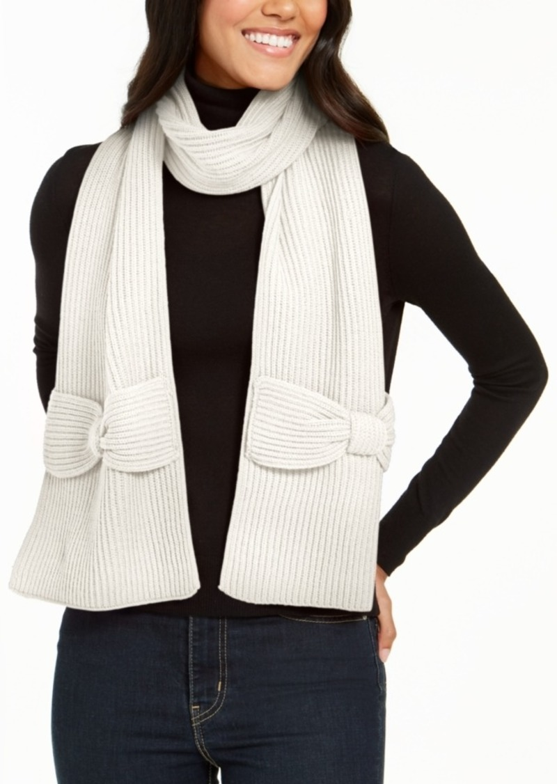 Kate Spade New York Solid Bow Muffler Scarf