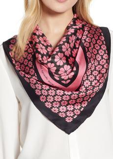 kate spade new york spade flower square silk scarf