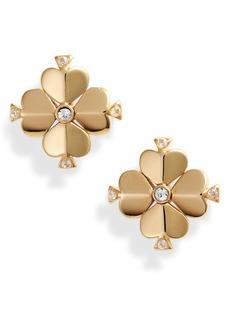 kate spade new york spade flower stud earrings