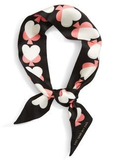kate spade new york spade hearts skinny silk scarf