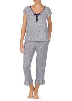 kate spade new york spades & dots long pajamas