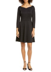 kate spade new york sparkle fit & flare ponte dress