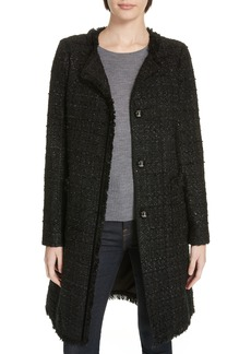 kate spade new york sparkle tweed coat