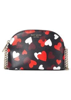 kate spade new york spencer celebration hearts small leather crossbody bag