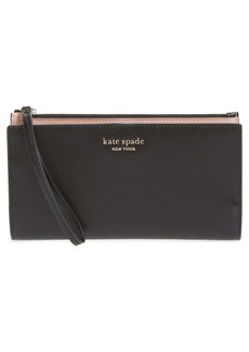 kate spade new york spencer continental leather wristlet