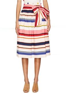 Kate Spade New York Spice Things Up Berber Stripe Midi Skirt