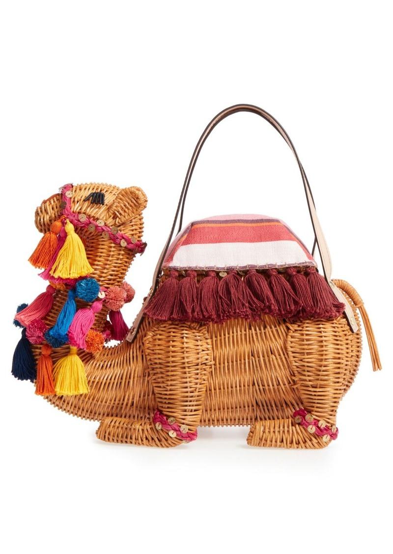 Kate Spade New York E Things Up Wicker Camel Handbag