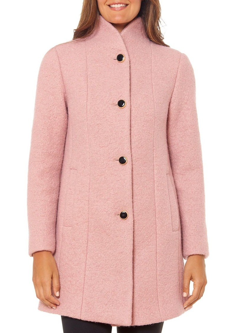 kate spade new york Stand-Collar Textured Coat