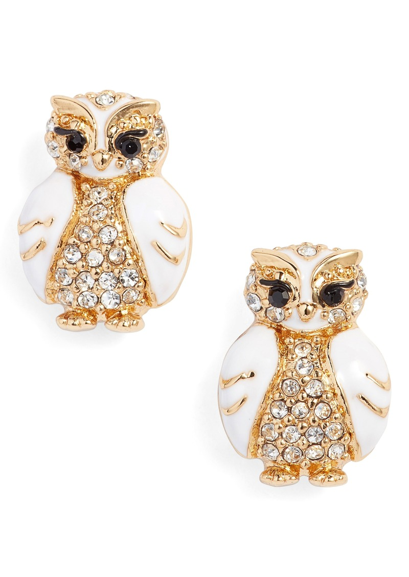 Kate Spade New York Star Bright Owl Stud Earrings Jewelry