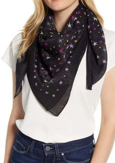 kate spade new york stars sparkle square wool blend scarf