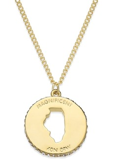 kate spade new york State Of Mind Gold-Tone State Cutout Pendant Necklace