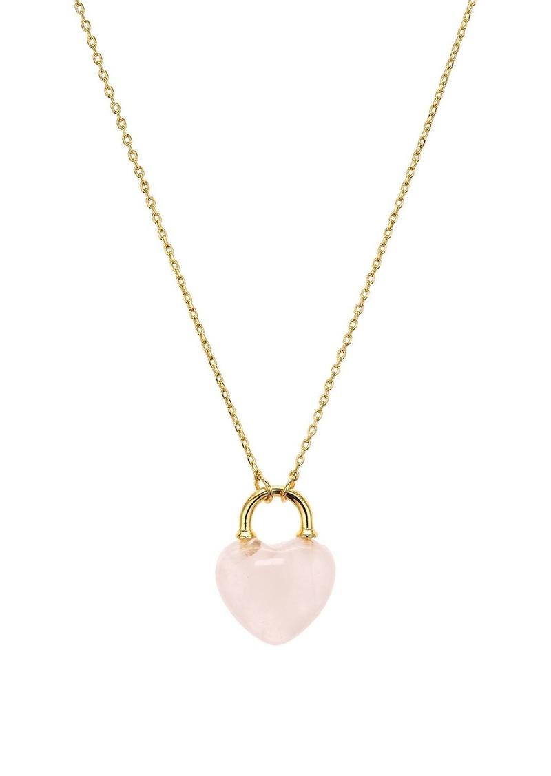 "kate spade new york Stone Lock Mini Pendant Necklace, 17"""