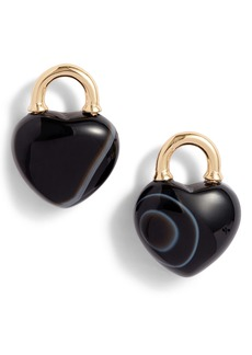 kate spade new york stone lock stud earrings