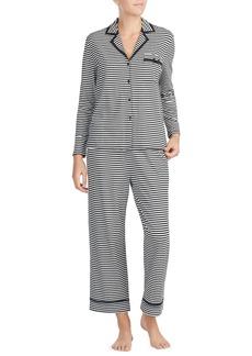 kate spade new york stripe crop jersey pajamas