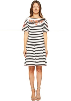 Kate Spade Stripe Embroidered Dress