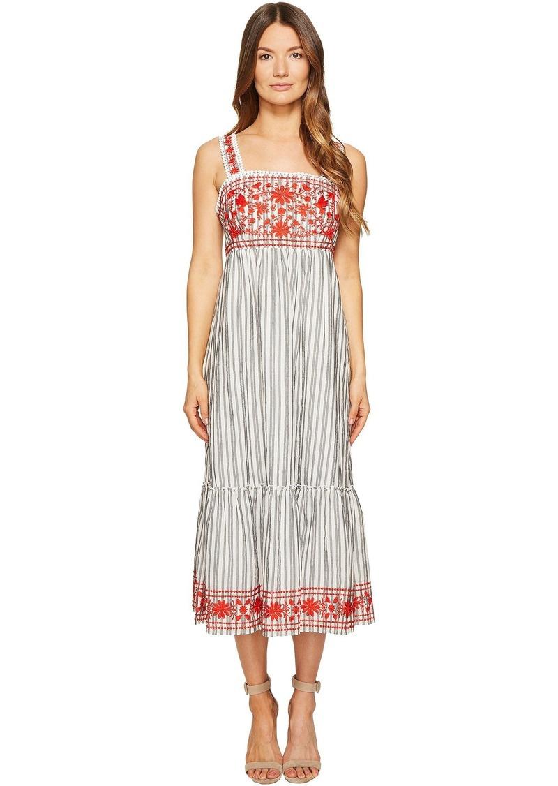 00eaf01a52c Kate Spade Kate Spade New York Stripe Embroidered Midi Dress