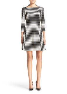 kate spade new york stripe fit & flare dress