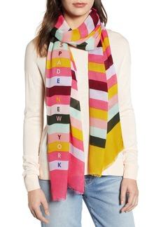 kate spade new york stripe logo scarf