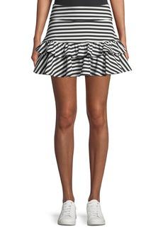Kate Spade stripe ruffle mini skirt