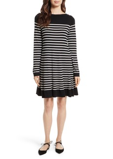 kate spade new york stripe swing sweater dress