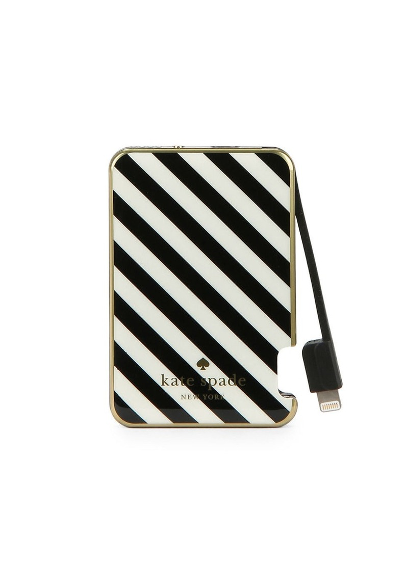 KATE SPADE NEW YORK Striped Portable Charger