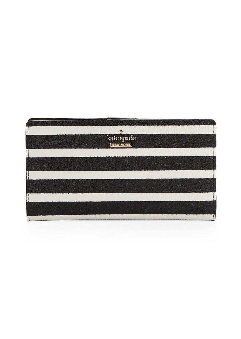 KATE SPADE NEW YORK Striped Snap Card Holder