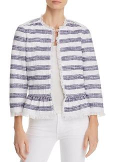 kate spade new york Striped Tweed Jacket