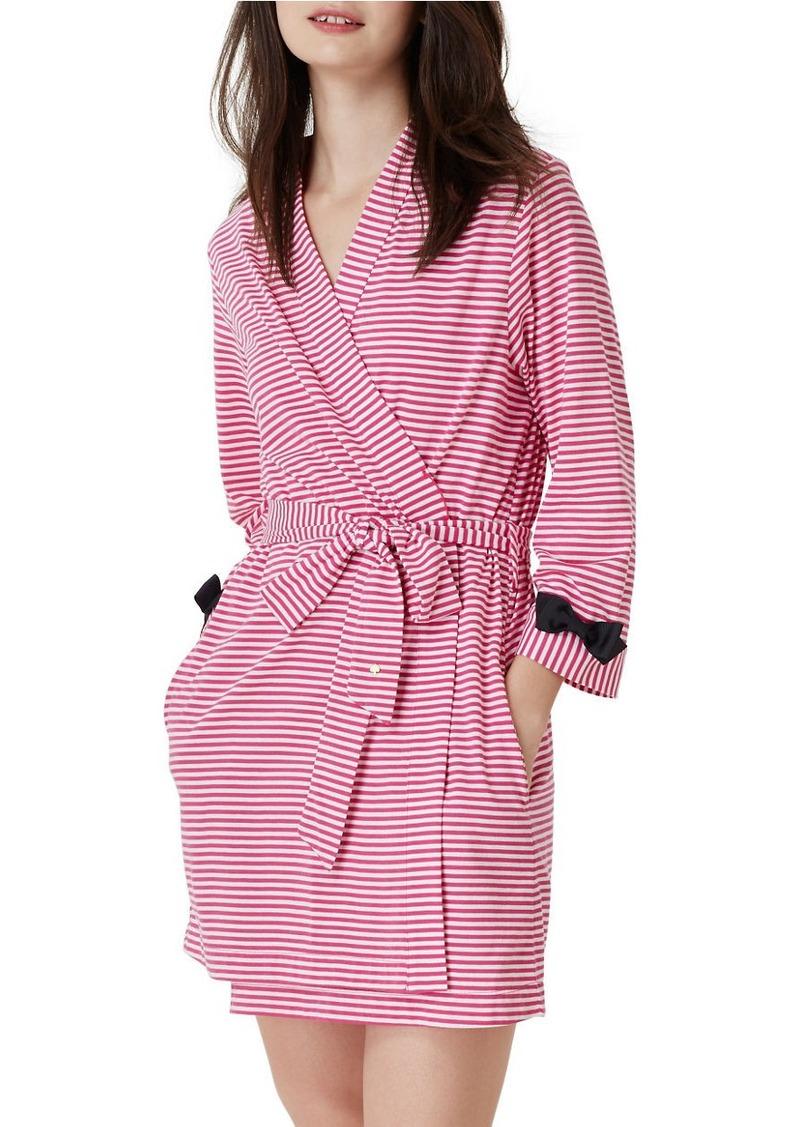 KATE SPADE NEW YORK Striped Waist-Tie Robe