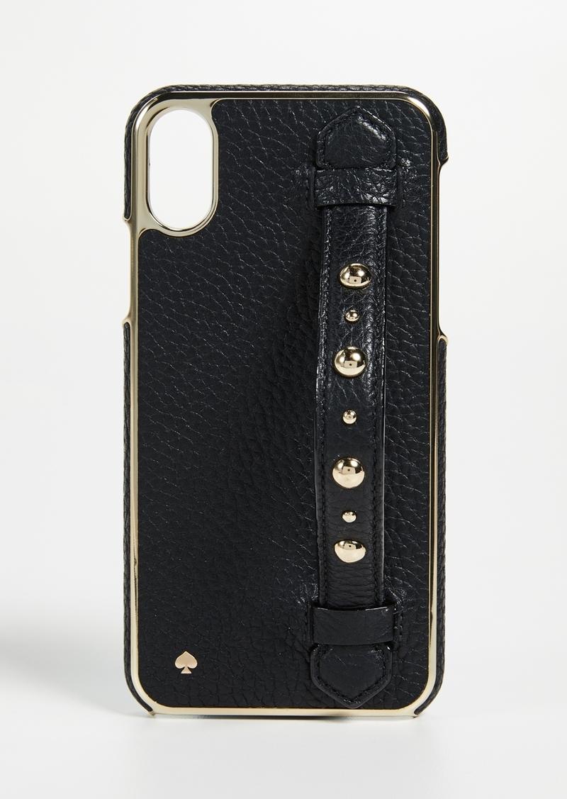 promo code adb18 f2166 New York Studded Hand Strap Stand iPhone X Case