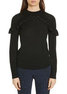kate spade new york studded ruffle sweater