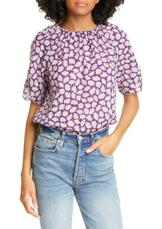 kate spade new york sunny bloom tie back cotton top